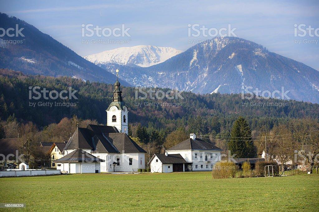 Church in Austria stock photo