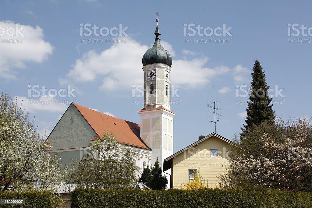 Church in Bavaria royalty-free stock photo