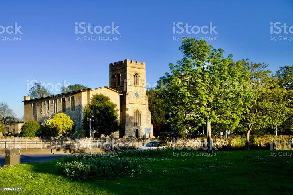 Church in Bedford stock photo