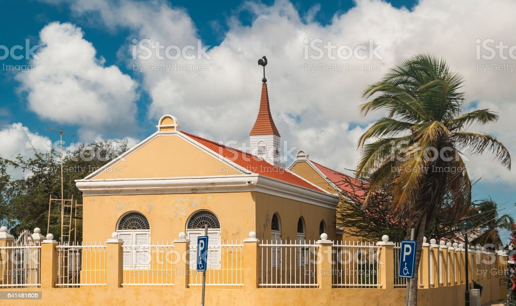 Church in Bonaire stock photo