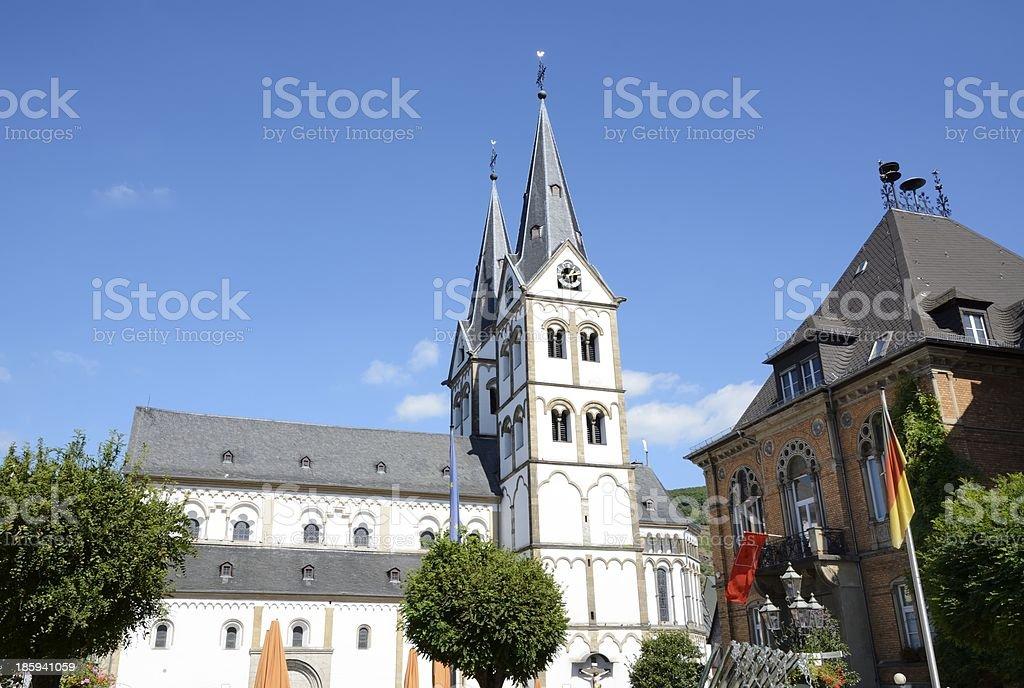 Church in Boppard royalty-free stock photo
