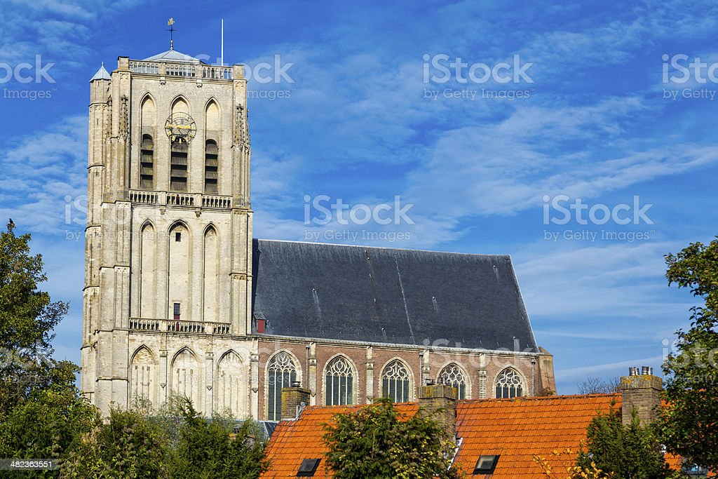 Church in Brielle, The Netherlands royalty-free stock photo