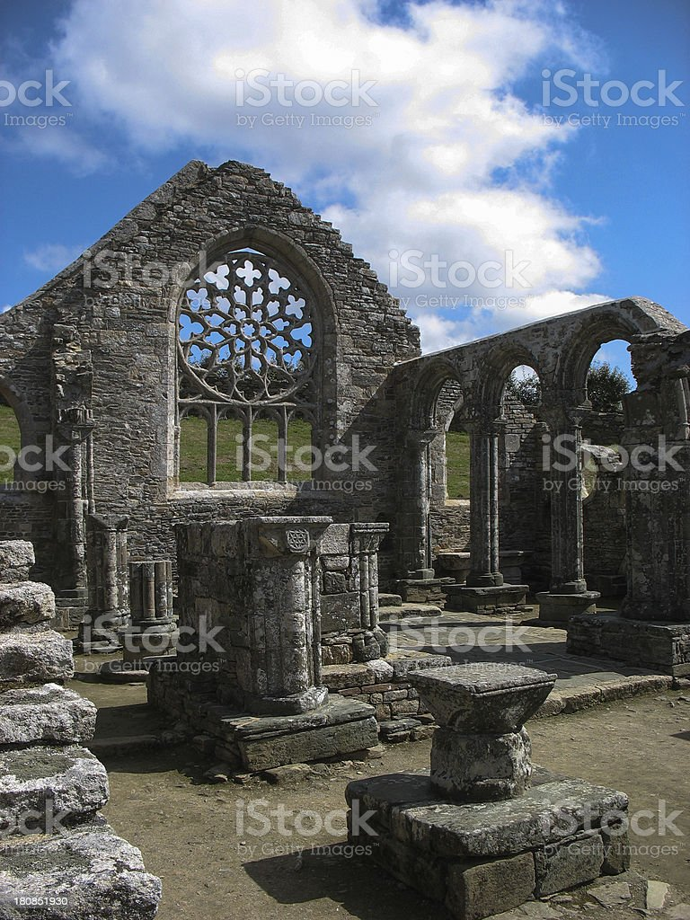 Church in Brittany stock photo