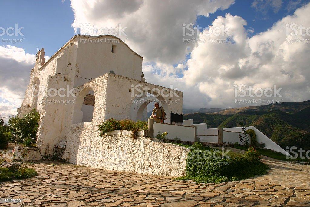 Church in Canillas Andalusia royaltyfri bildbanksbilder
