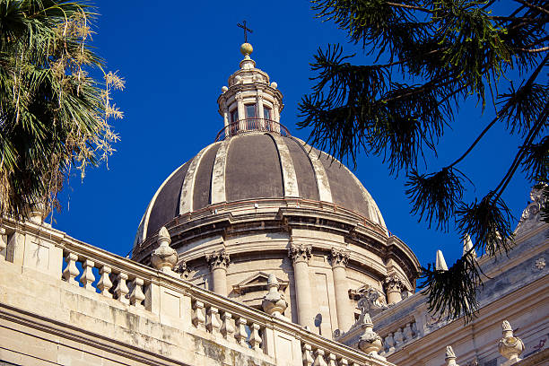 Church in Catania - Cathedral of S. Agatha, Sicily stock photo
