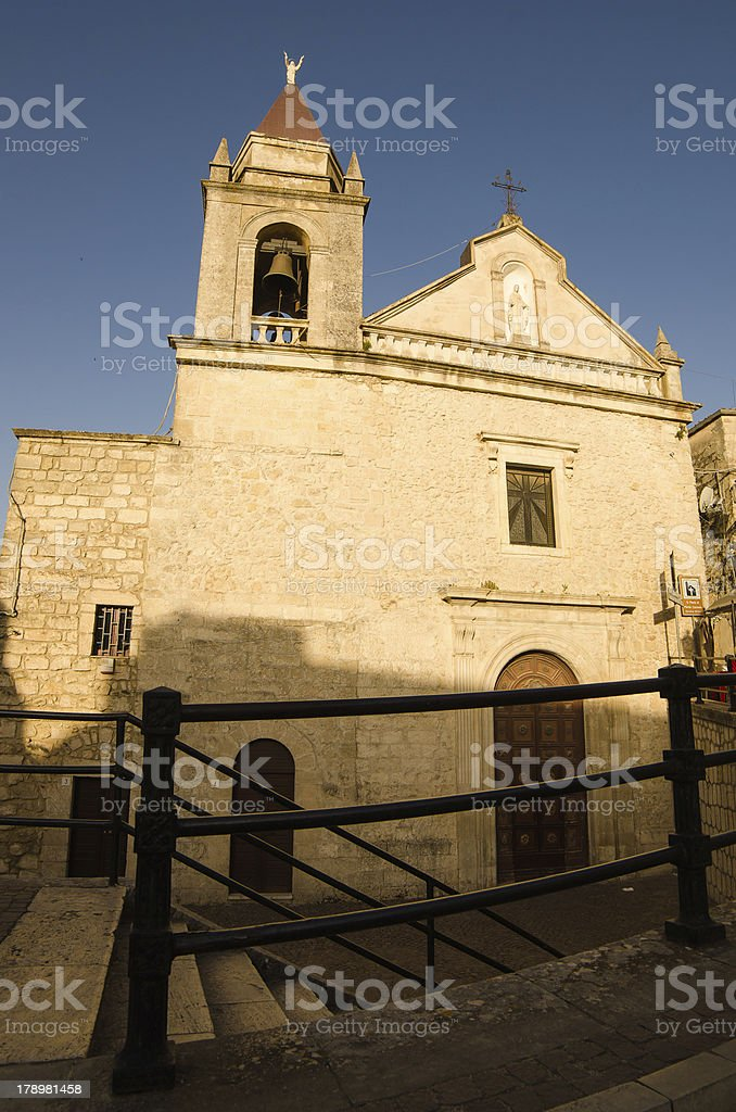 Church in Cattabellotta, Sicily royalty-free stock photo