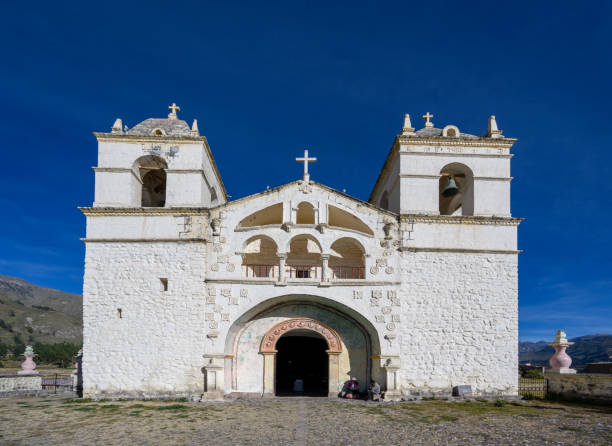 Church in Chivay stock photo