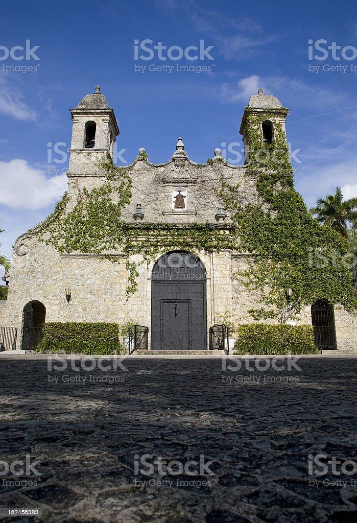 Iglesia en Coconut Grove foto de stock libre de derechos