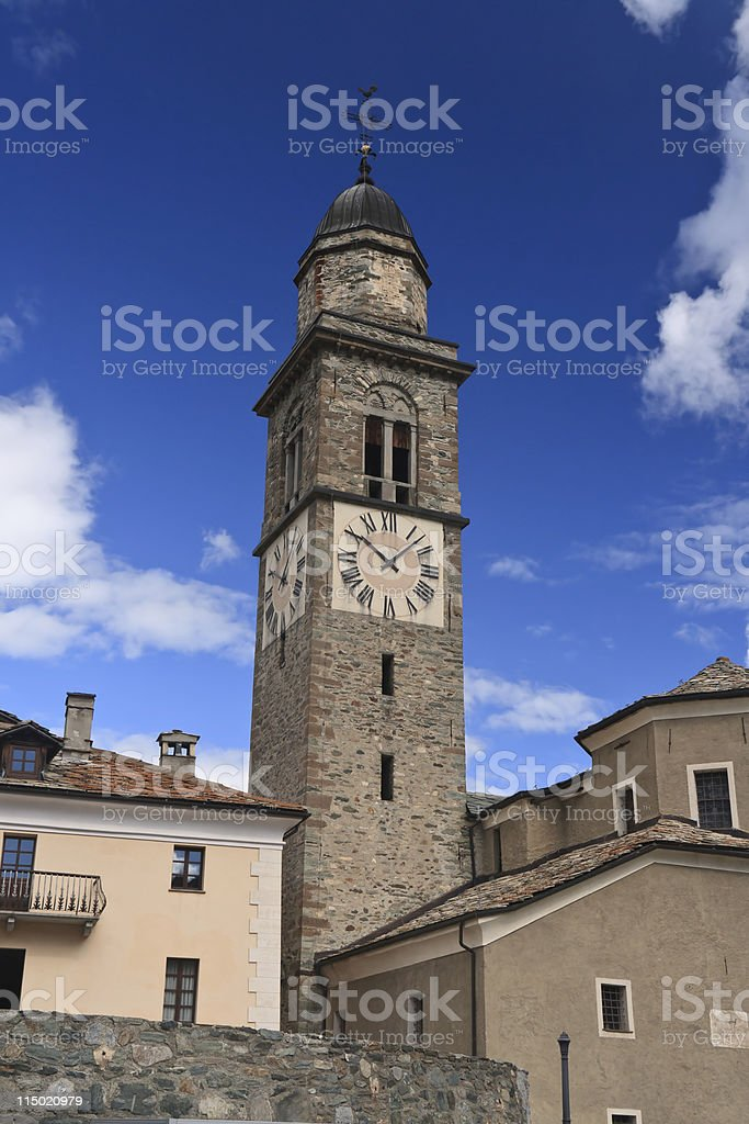 church in Cogne, Italy royalty-free stock photo