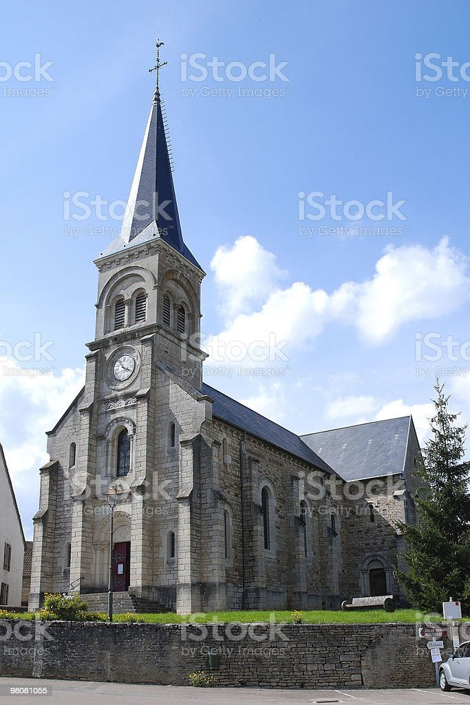 Church in Commarin royalty-free stock photo