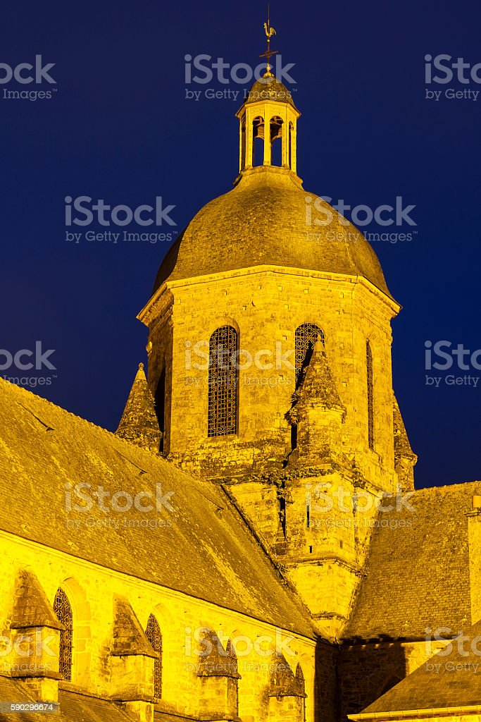 Church in Coutances royaltyfri bildbanksbilder