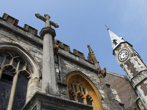 church in dorchester - belkindesign stock pictures, royalty-free photos & images