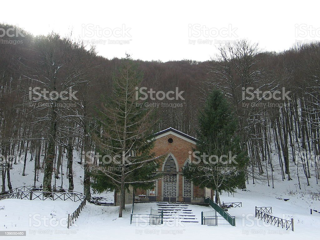 Church in Forest stock photo