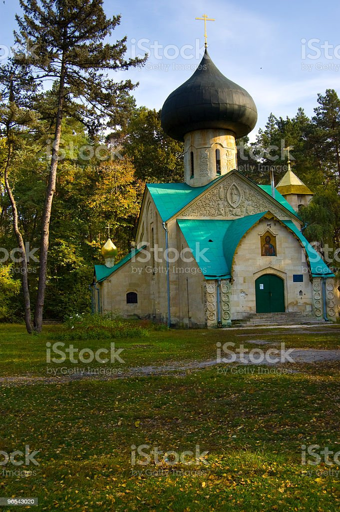 church in forest royalty-free stock photo