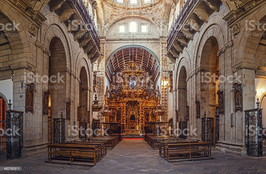 church in galicia royalty-free stock photo