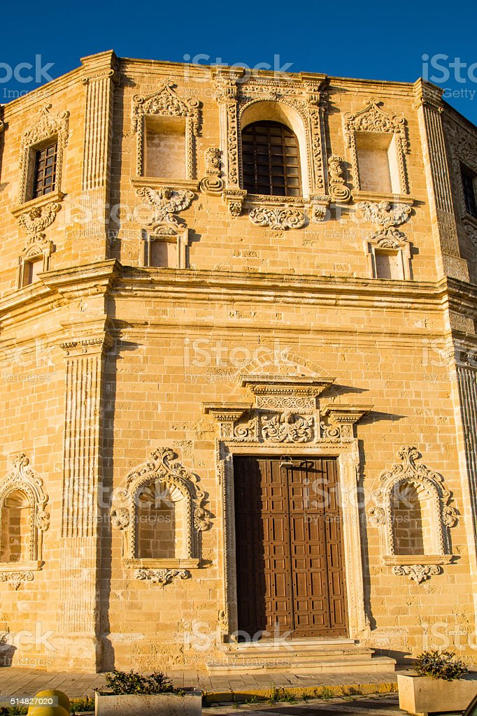 Church in Gallipoli stock photo