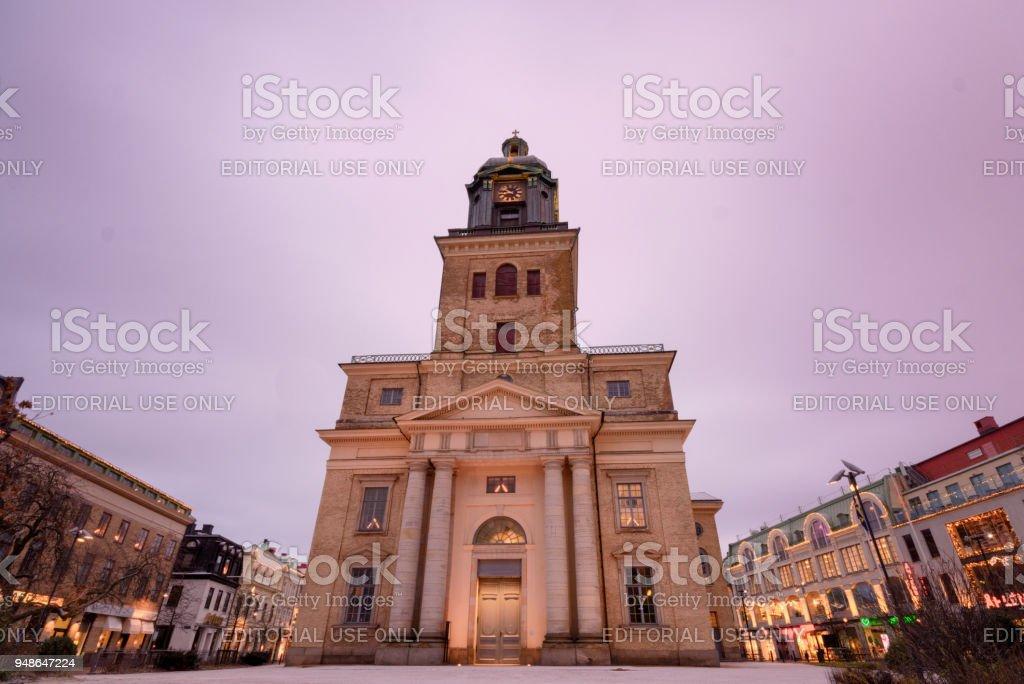 Church in gohenburg,Sweden also known as Doomkyrkan stock photo
