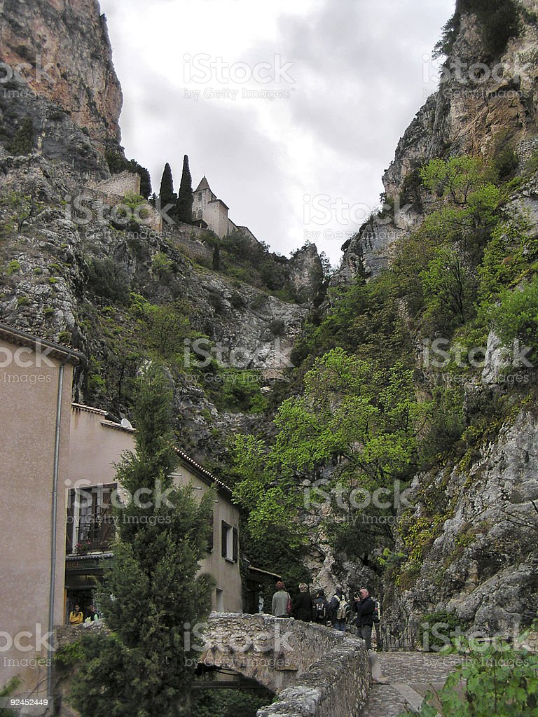 church in Gorges du Verdon France royalty-free stock photo