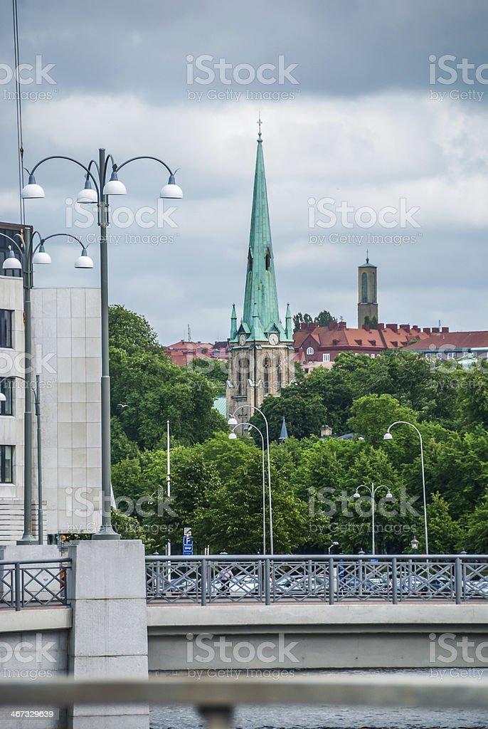 Church in Gothenburg royalty-free stock photo