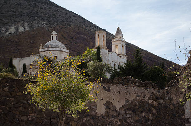 Church in graveyard Church in graveyard real de catorce stock pictures, royalty-free photos & images