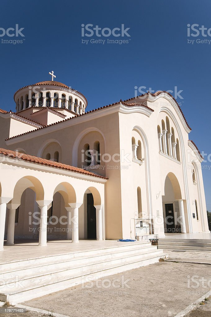 church in greece royalty-free stock photo