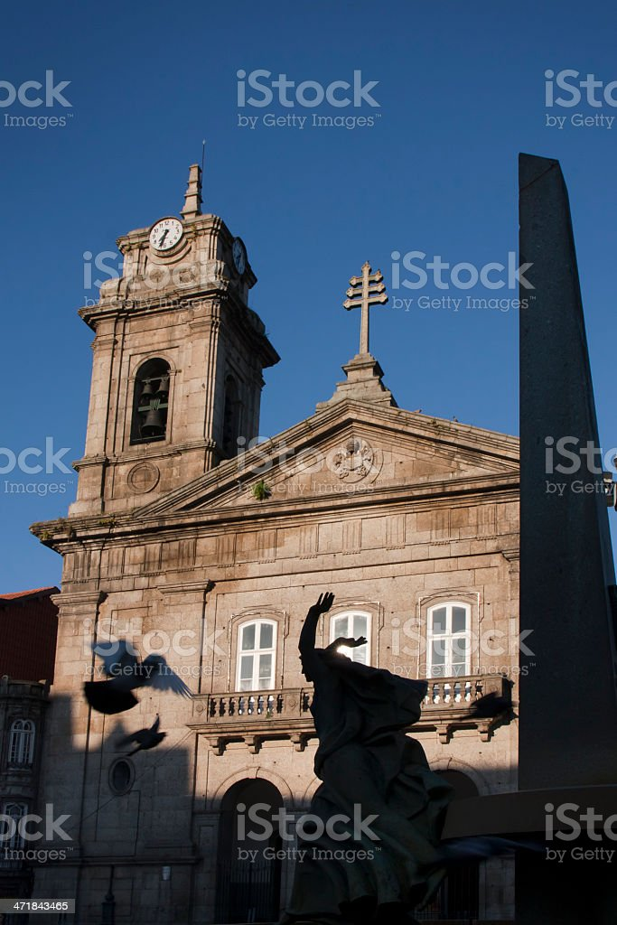 Church in Guimarães, Portugal royalty-free stock photo