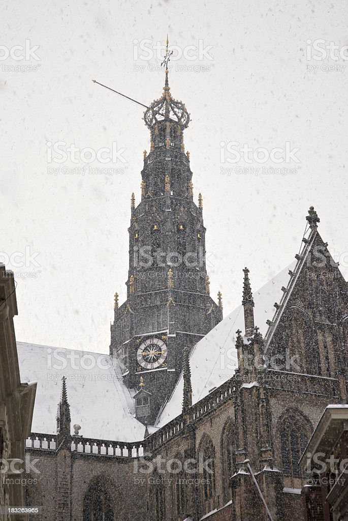 Church in Haarlem stock photo
