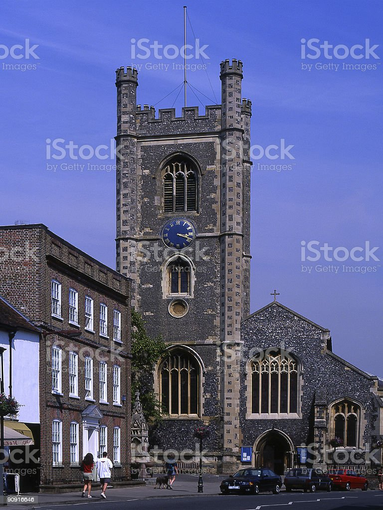 Church in Henley-on-Thames. Oxfordshire. England stock photo