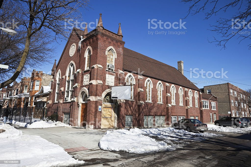 Church in Hermosa, Northwest Chicego royalty-free stock photo