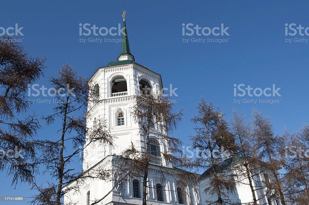 church in Irkutsk stock photo