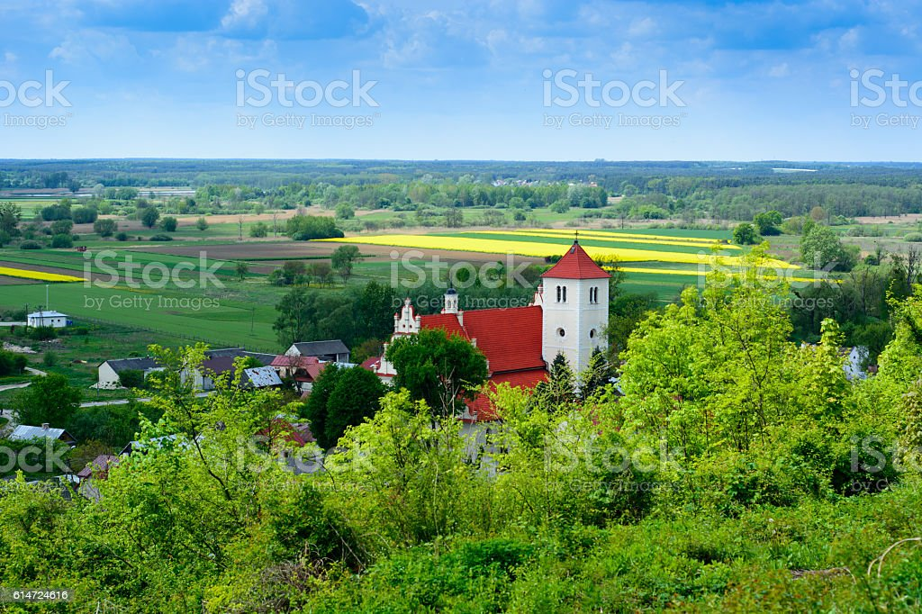 Church in Janowiec village, Poland stock photo