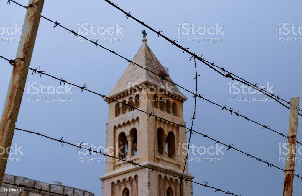 Church in Jerusalem Old City stock photo