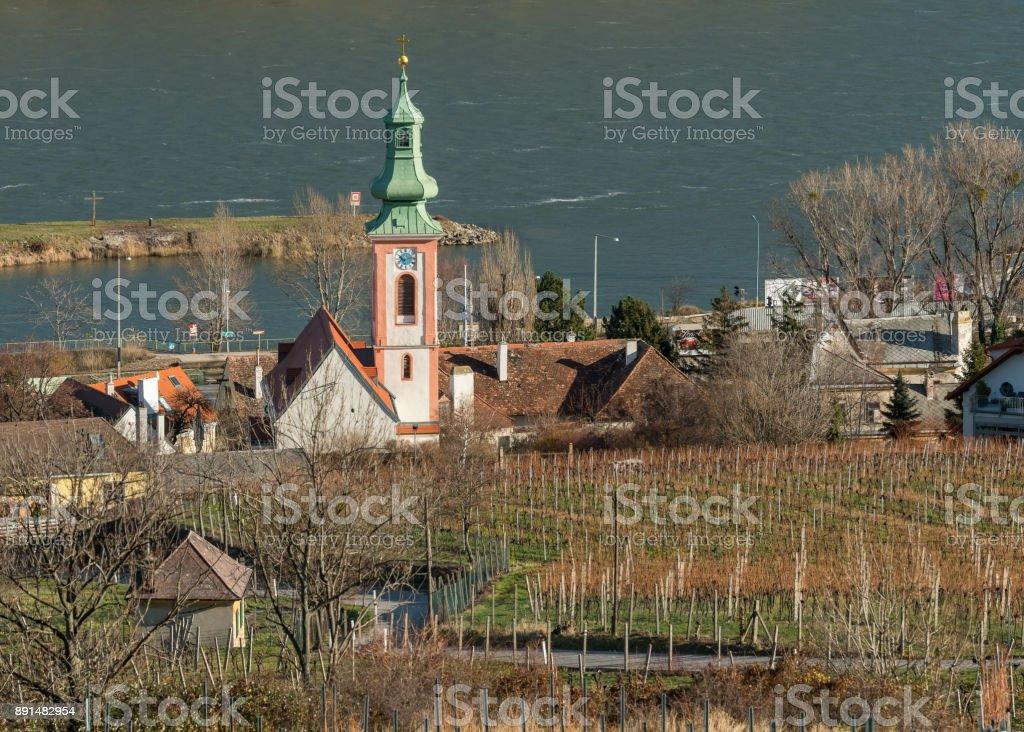 Church in Kahlenbergerdorf Vienna Austria stock photo