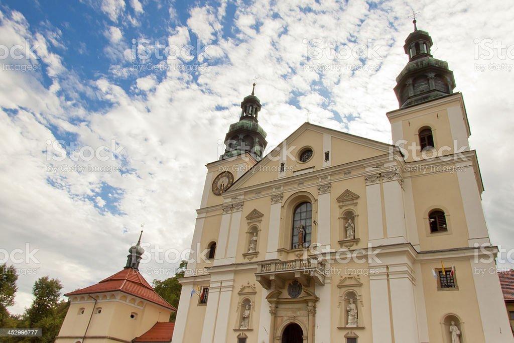 Church in Kalwaria Zebrzydowska Sanctuary. stock photo