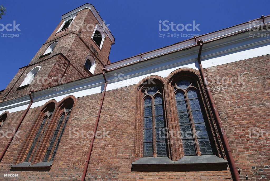 Church in Kaunas, Lithuania royalty-free stock photo
