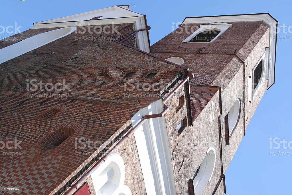 Church in Kaunas, Lithuania royalty free stockfoto