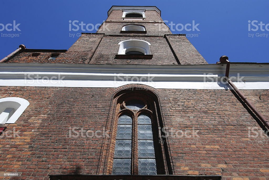 Church in Kaunas, Lithuania royalty-free stock photo