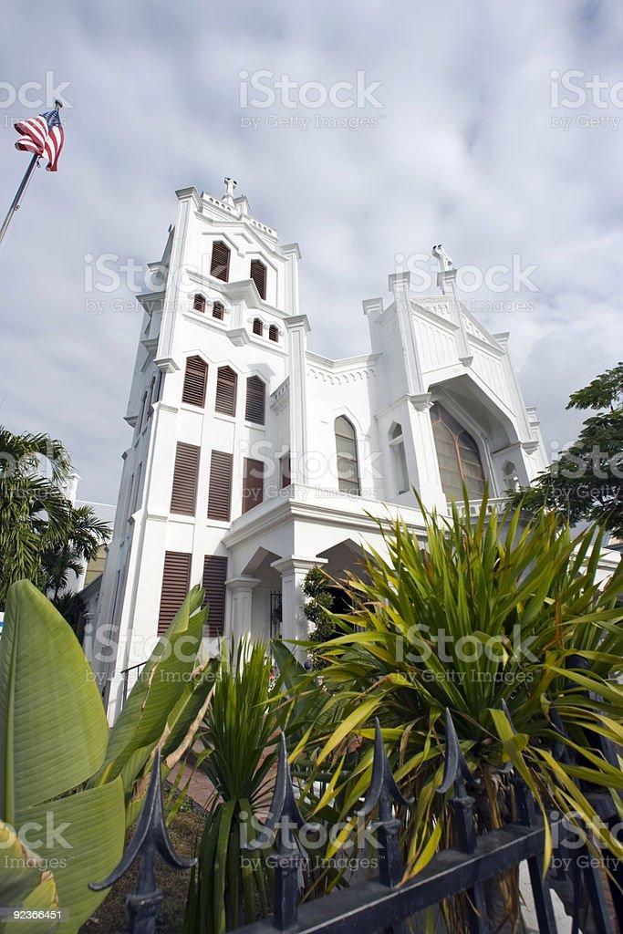 Kirche in Key West Lizenzfreies stock-foto