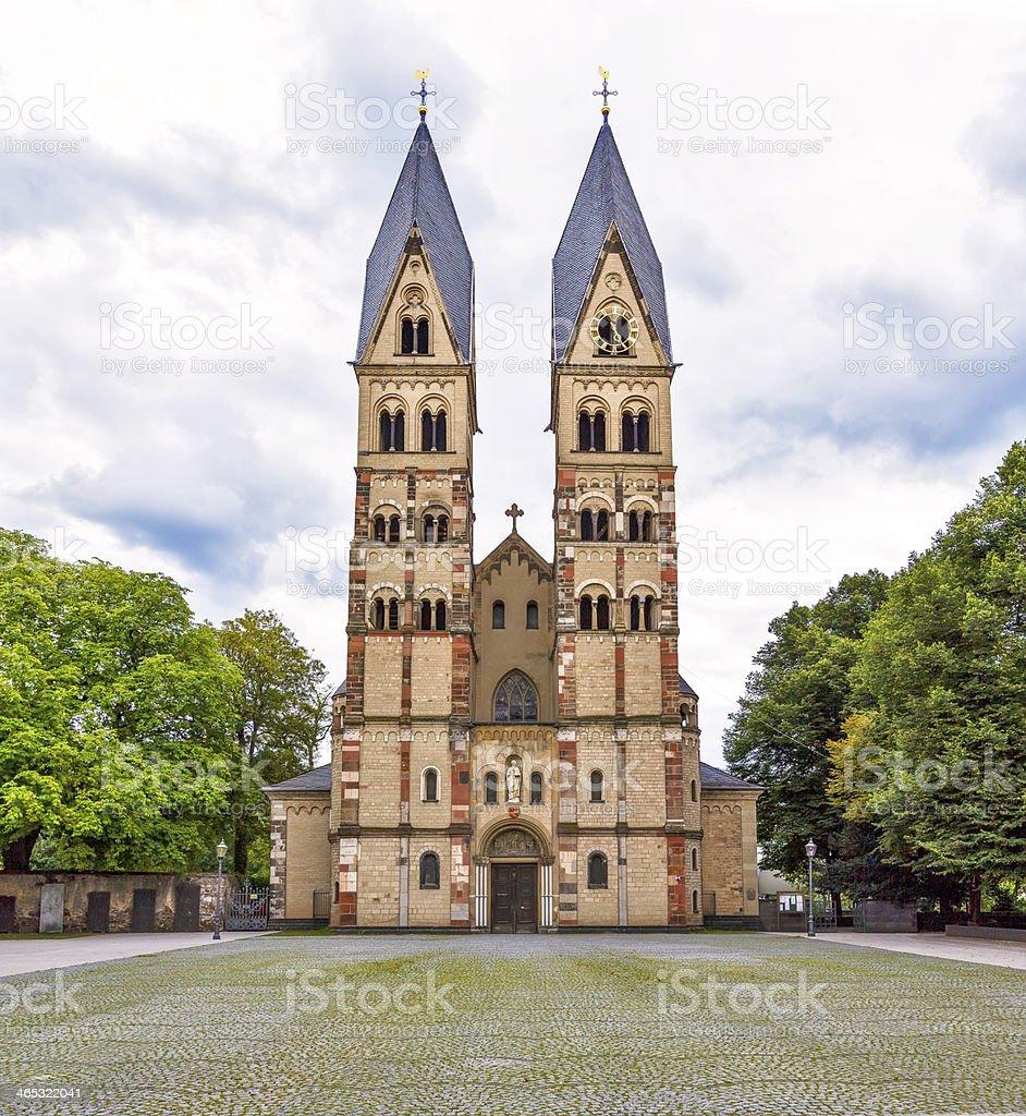 church in Koblenz, Germany stock photo