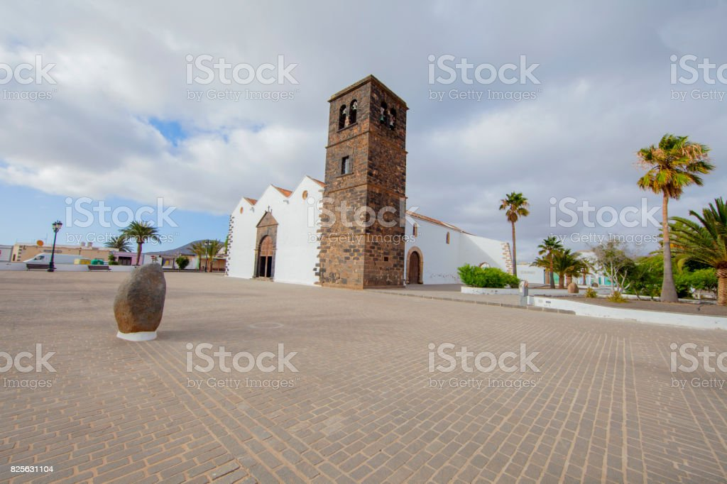 Church in La Oliva - Fuerteventura stock photo