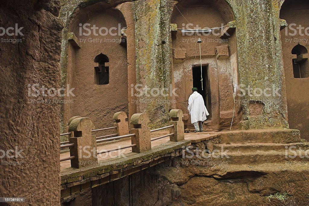 Church in Lalibela, Ethiopia stock photo