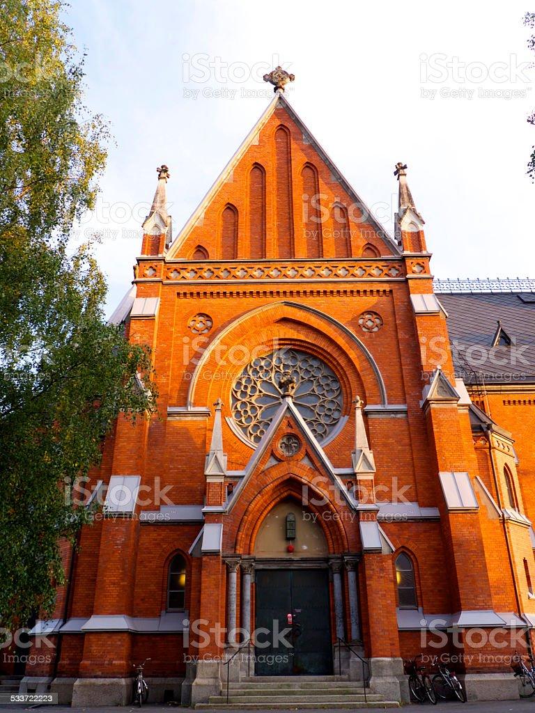 Church in Luleå stock photo