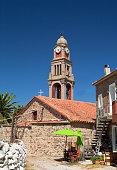 A Church in Mantamados, Lesvos Island, Mythimna, Greece