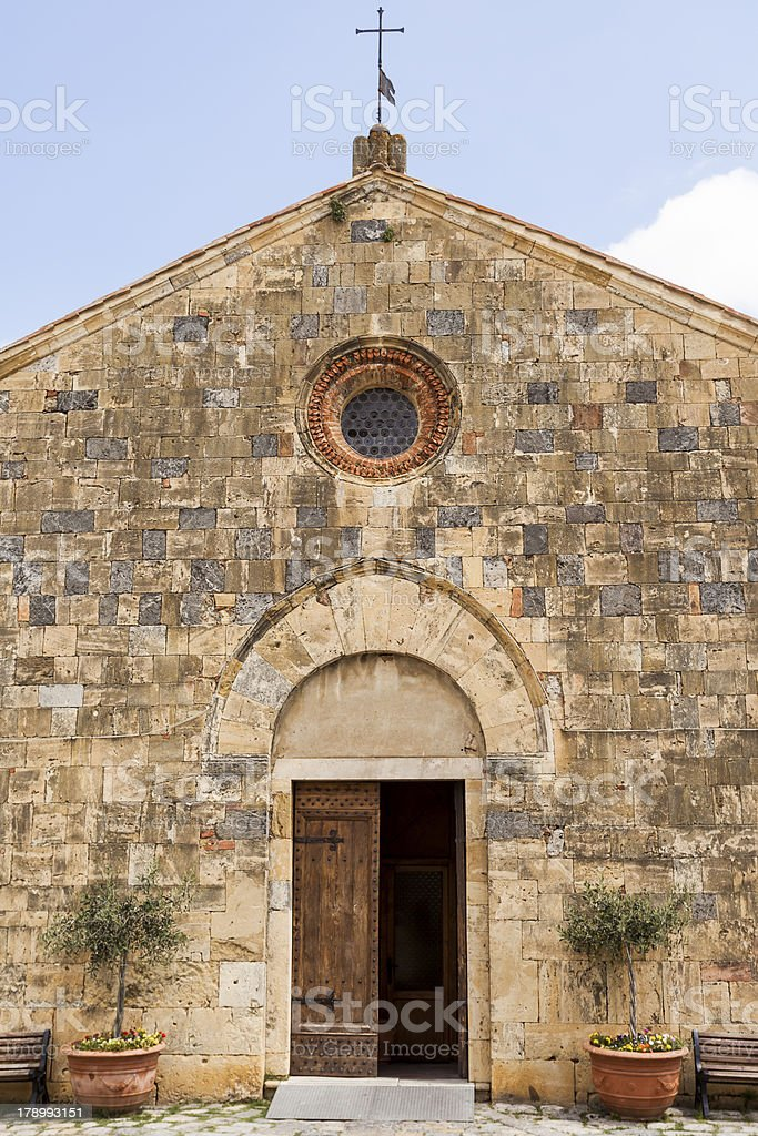 Church in Monteriggioni royalty-free stock photo