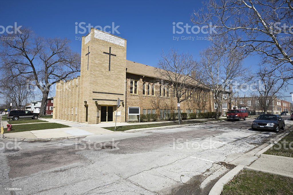 Church in Morgan Park Southwest Chicago royalty-free stock photo