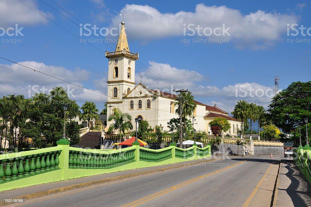 Church in Morretes, Brazil stock photo