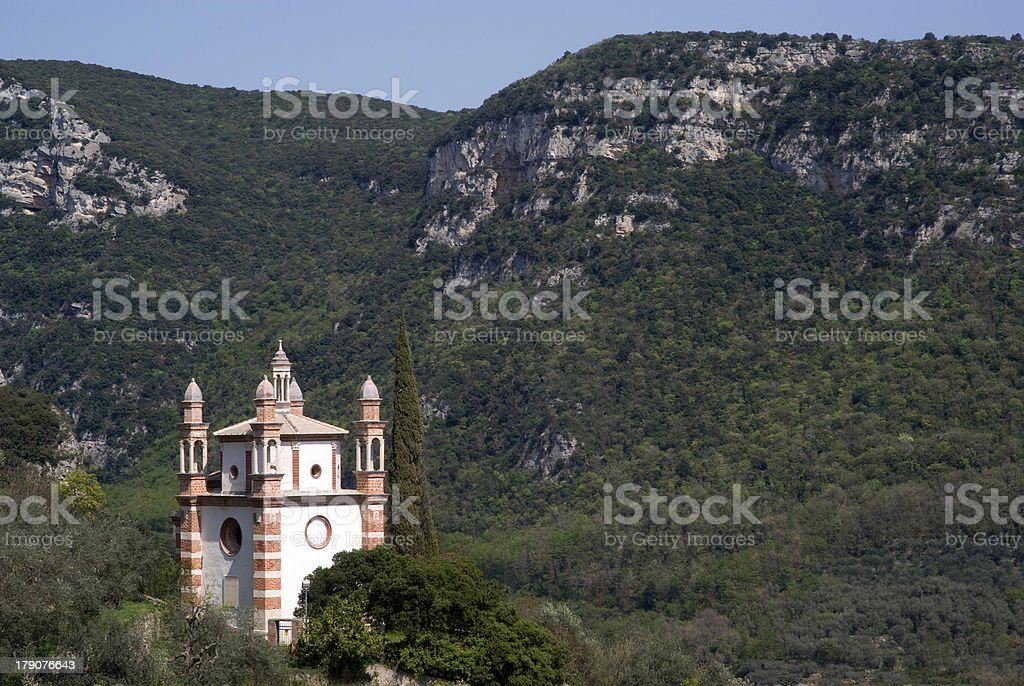 Church in mountains royalty-free stock photo