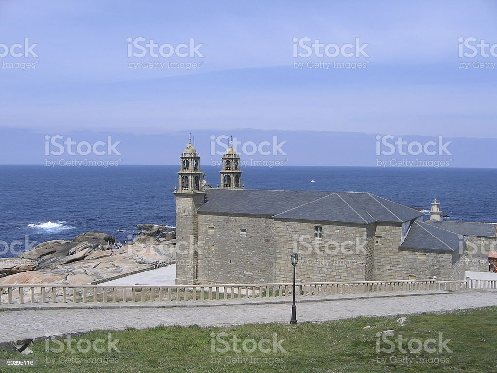 Church in Muxía stock photo