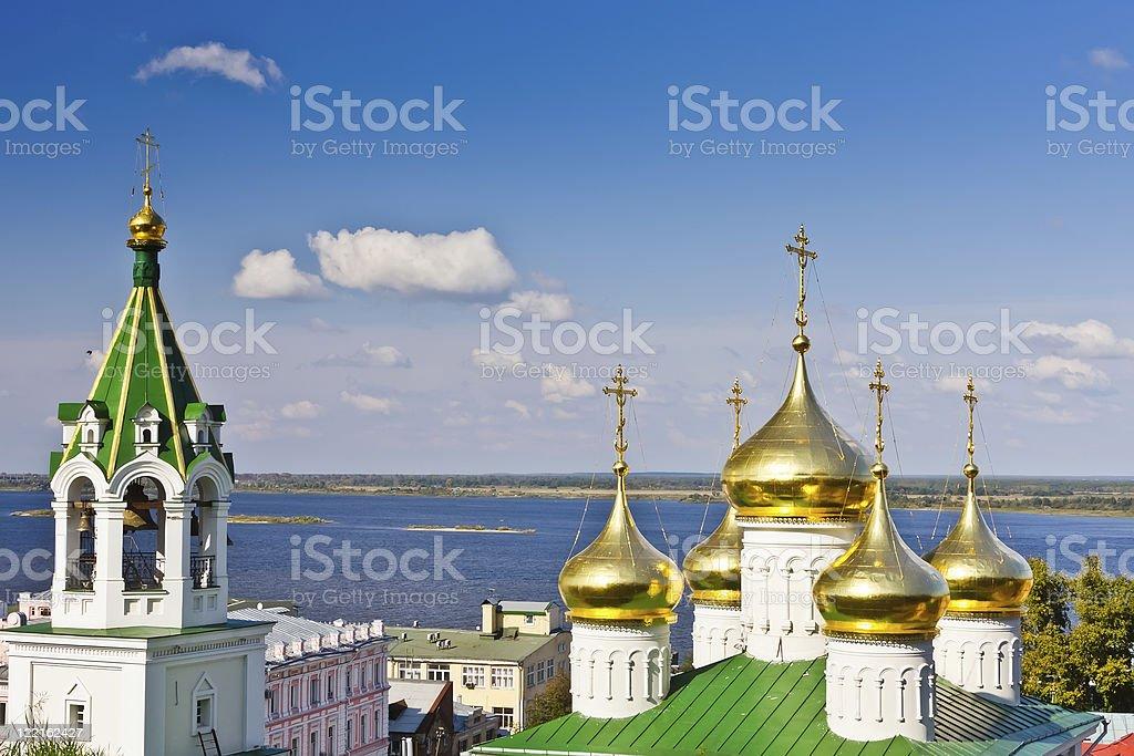 Church in Nizhny Novgorod, Russia stock photo