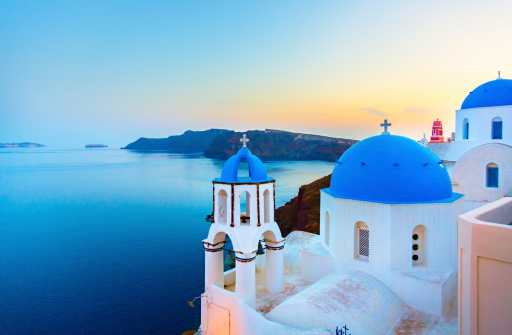 Church In Oia On Santorini Island Greece Stock Photo - Download Image Now